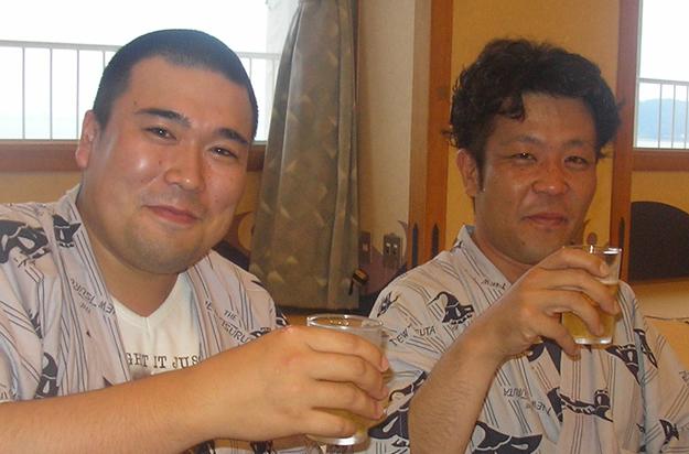 体格の良い2人。酒量もハンパありません。