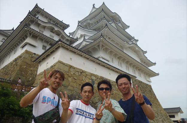 姫路城もビックだが、わしらもビックだぞー。