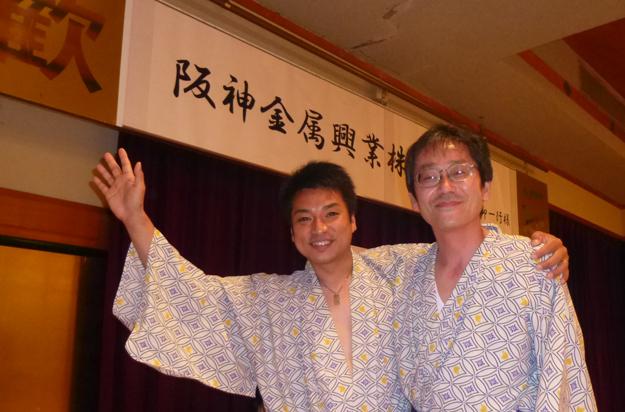 阪神金属のイクメン2人です。