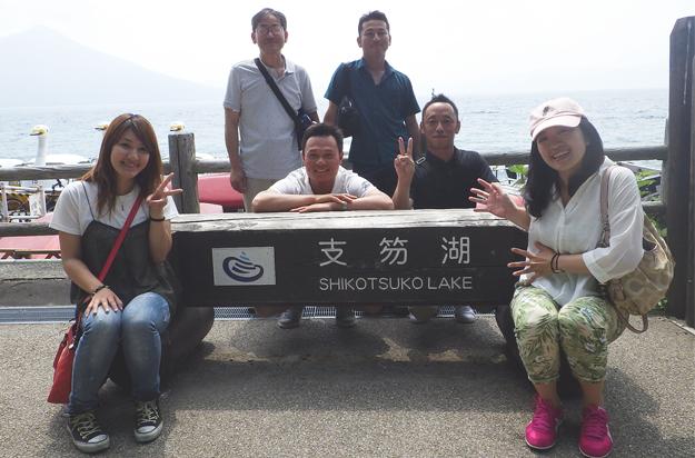 支笏湖でーす。
