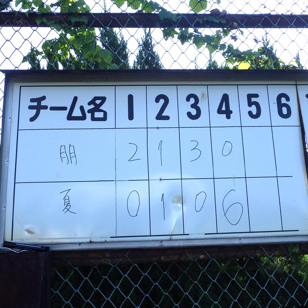 第二試合は6対7x。サヨナラゲームでした。